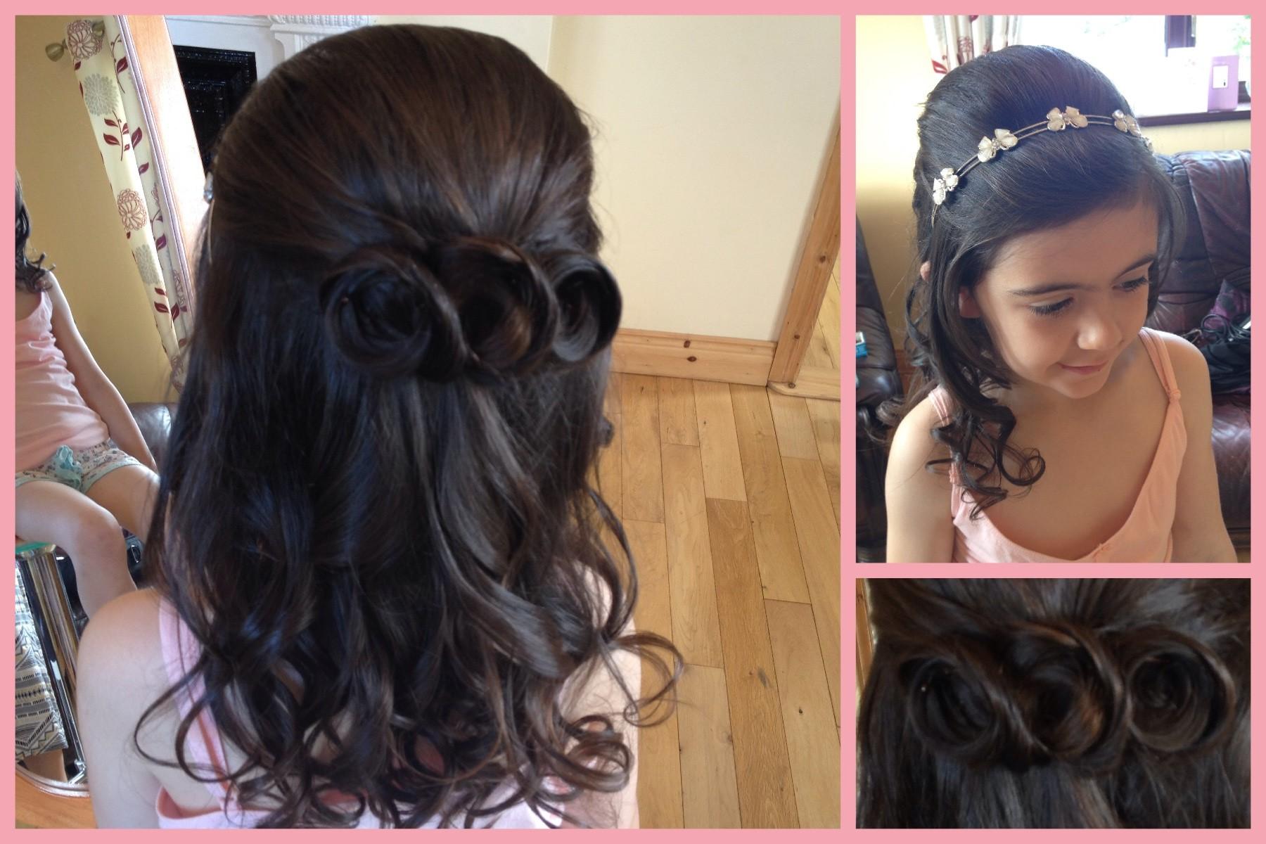 holy communion and confirmation hair by salon 2 sligo | salon 2